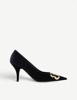d9d86291513 BALENCIAGA Pointed-toe heeled velvet pumps