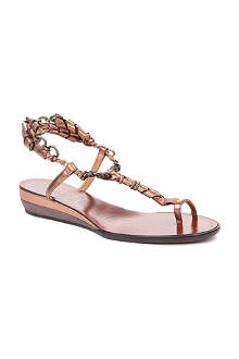 LANVIN Frenzy leather wedge sandals