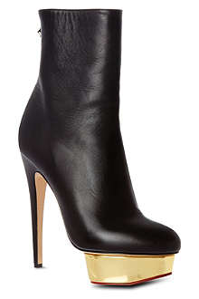 CHARLOTTE OLYMPIA Lucinda leather ankle boots