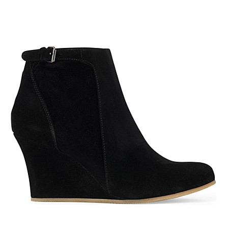 LANVIN Abu wedge ankle boots (Black