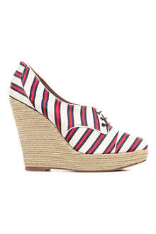 TABITHA SIMMONS Oxford canvas wedges