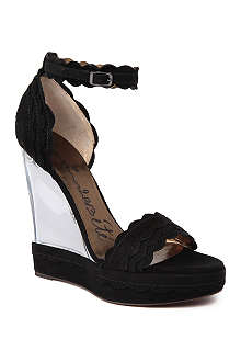 LANVIN Suede wedge sandals
