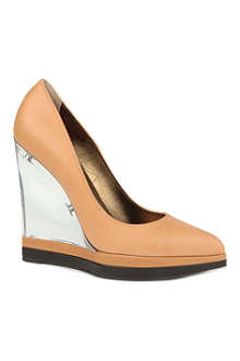 LANVIN Lucite leather wedges