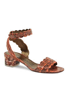 LANVIN Frenzy snake-effect leather sandals