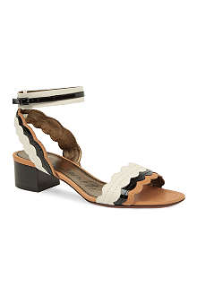 LANVIN Frenzy scalloped leather sandals