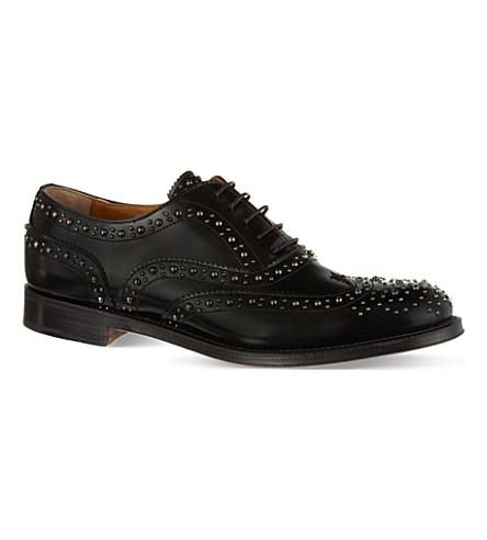 CHURCH Burwood leather brogues (Black