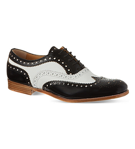 CHURCH Burwood leather brogues (Blk/white