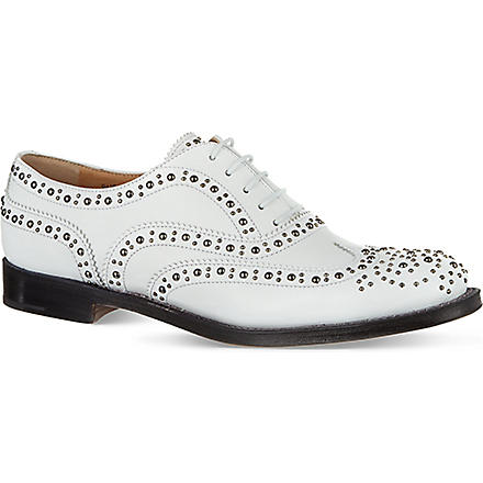 CHURCH Burwood leather brogues (White