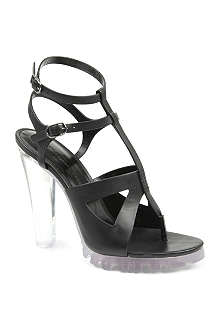 CHRISTOPHER KANE Perspex heel leather sandals
