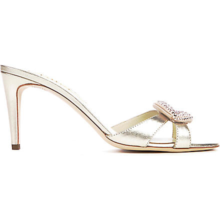 RUPERT SANDERSON Minky metallic leather sandals (Gold
