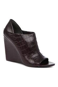 ALEXANDER WANG Alla mock-croc wedge shoe boots