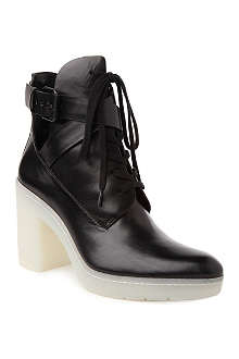 ALEXANDER WANG Jill lace-up leather ankle boots