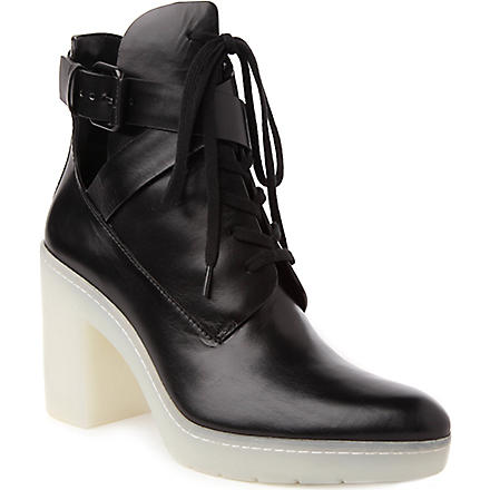 ALEXANDER WANG Jill lace-up leather ankle boots (Black