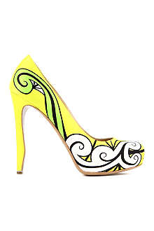 NICHOLAS KIRKWOOD Trickster printed leather courts