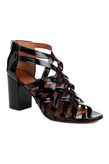 GIVENCHY May leather cage sandals