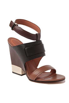 GIVENCHY Oscar leather wedge sandals