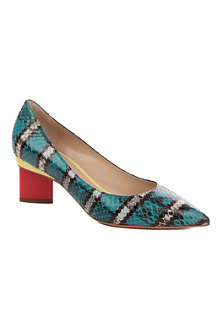 NICHOLAS KIRKWOOD Oscar snake-effect court shoes