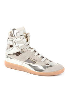 MAISON MARTIN MARGIELA Rock metallic leather high-top trainers