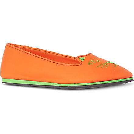 CHARLOTTE OLYMPIA Capri cat slip on shoes (Orange