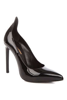 SAINT LAURENT Paris patent-leather court shoes