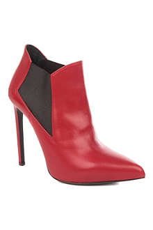 SAINT LAURENT Paris leather ankle boots