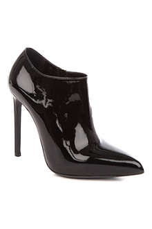 SAINT LAURENT Paris patent-leather shoe boots