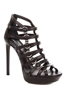 SAINT LAURENT Nina leather cage sandals