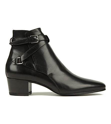 SAINT LAURENT Blake 40 leather Johdpur ankle boots (Black
