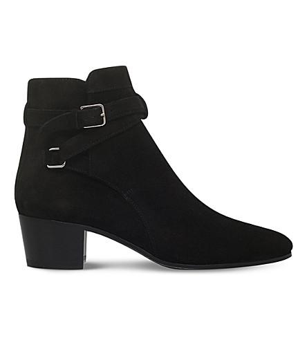 SAINT LAURENT Blake suede ankle boots (Black