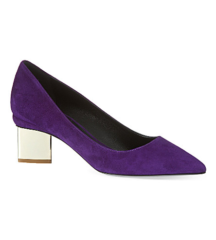 NICHOLAS KIRKWOOD Salsa suede court shoes (Purple