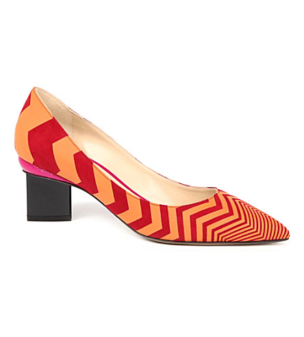 NICHOLAS KIRKWOOD Salsa mid-heel courts (Orange