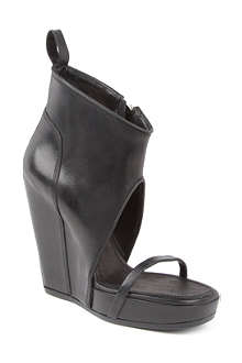 RICK OWENS Ruby leather wedge shoe boots