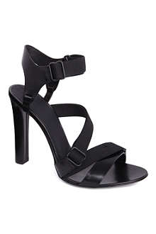 ALEXANDER WANG Cintia grosgrain and leather sandals