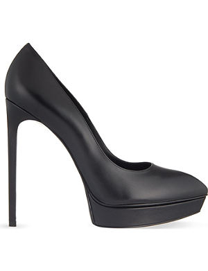 SAINT LAURENT Janis leather court shoes
