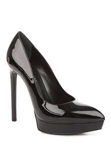 SAINT LAURENT Janis patent leather court shoes