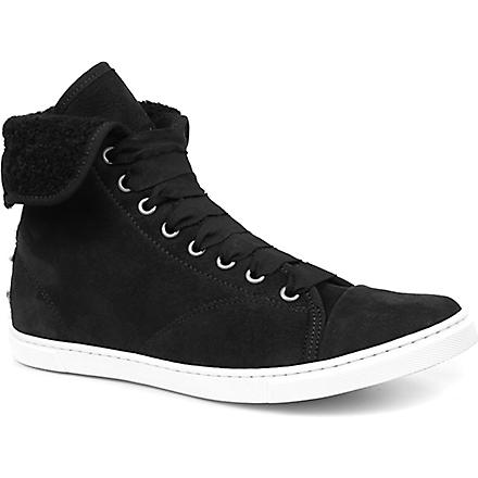 LANVIN Basket suede high tops (Black