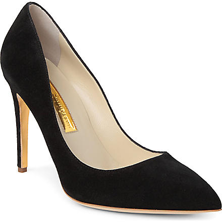 RUPERT SANDERSON Malory leather courts (Black