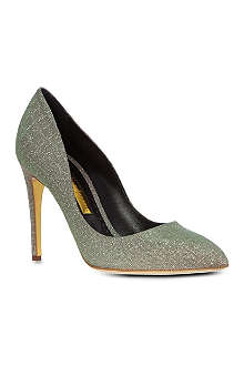 RUPERT SANDERSON Malory metallic leather courts