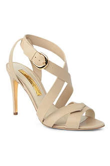 RUPERT SANDERSON Ivory leather sandals
