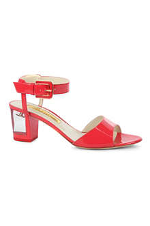 RUPERT SANDERSON Rostella patent leather sandals