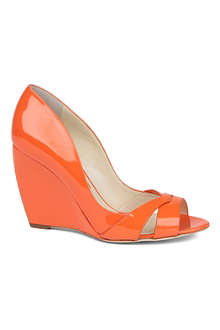 RUPERT SANDERSON Peggy peep-toe wedge courts