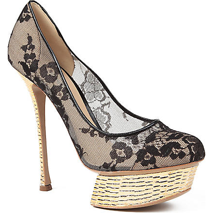 NICHOLAS KIRKWOOD Lace courts (Black