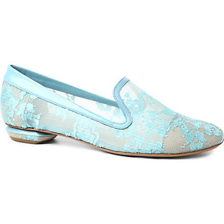 NICHOLAS KIRKWOOD Smoking slippers (Turquoise