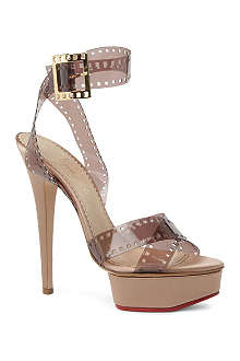CHARLOTTE OLYMPIA Girls On Film pvc and silk satin sandals