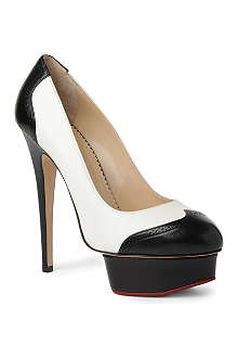 CHARLOTTE OLYMPIA Spectator Dolly leather platform courts