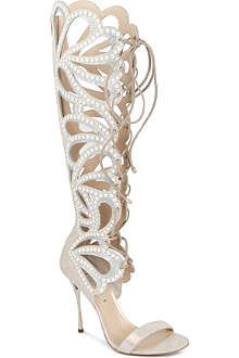 NICHOLAS KIRKWOOD Glitter knee-high sandals