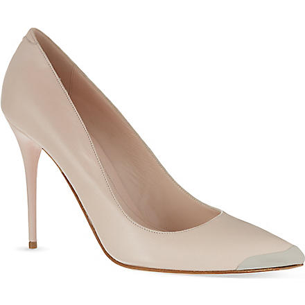 ALEXANDER MCQUEEN Metal capped court shoes (Nude