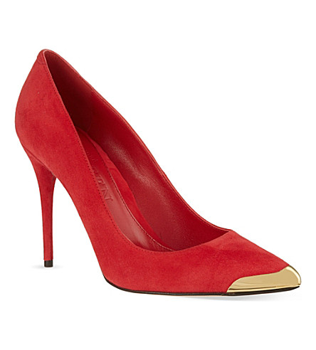ALEXANDER MCQUEEN Metal toe court shoes (Red