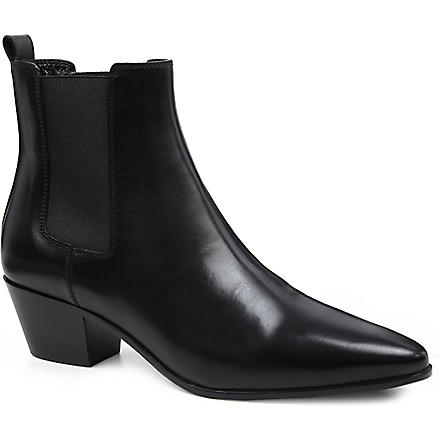 SAINT LAURENT Rock 40 leather Chelsea boots (Black
