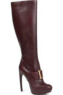 ALEXANDER MCQUEEN Kristine leather knee-high boots